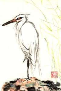 Japanese Heron Painting
