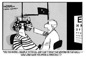 Eyeball to eyeball - with politics!