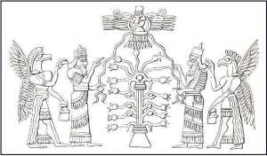 "Ancient Akkadians honouring their ""Tree of Life"""