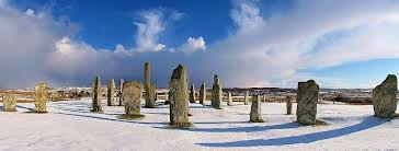 Standing Stones in Winter